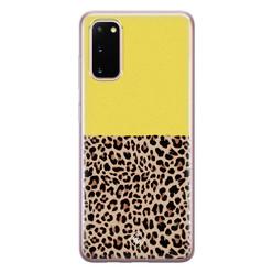 Casimoda Samsung Galaxy S20 siliconen hoesje - Luipaard geel