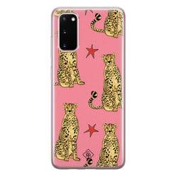 Casimoda Samsung Galaxy S20 siliconen hoesje - The pink leopard