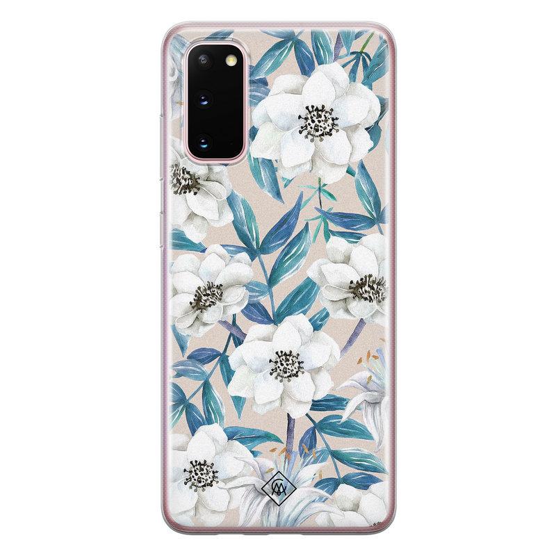 Casimoda Samsung Galaxy S20 siliconen telefoonhoesje - Touch of flowers