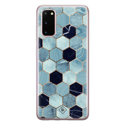 Casimoda Samsung Galaxy S20 siliconen hoesje - Blue cubes