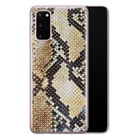 Casimoda Samsung Galaxy S20 siliconen hoesje - Golden snake