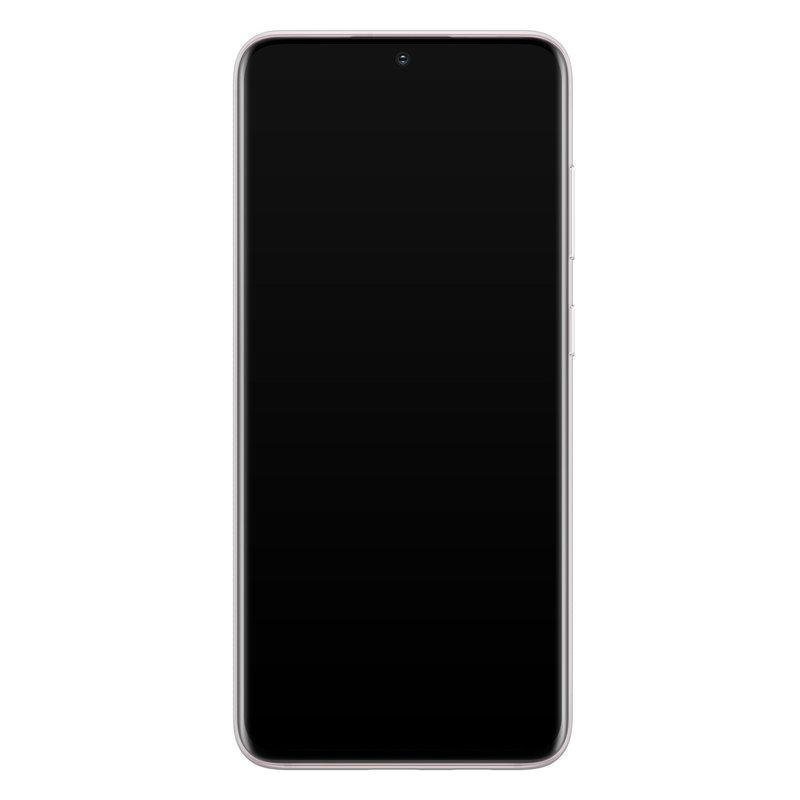 Casimoda Samsung Galaxy S20 siliconen telefoonhoesje - Parelmoer marmer