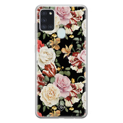 Casimoda Samsung Galaxy A21s siliconen hoesje - Flowerpower