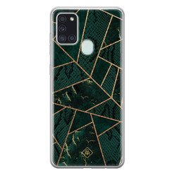 Casimoda Samsung Galaxy A21s siliconen hoesje - Abstract groen