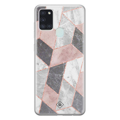 Casimoda Samsung Galaxy A21s siliconen hoesje - Stone grid