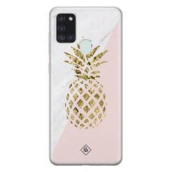 Casimoda Samsung Galaxy A21s siliconen hoesje - Ananas