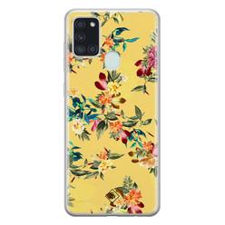 Casimoda Samsung Galaxy A21s siliconen hoesje - Floral days