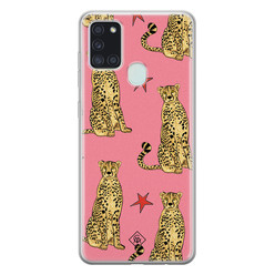 Casimoda Samsung Galaxy A21s siliconen hoesje - The pink leopard