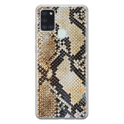 Casimoda Samsung Galaxy A21s siliconen hoesje - Golden snake