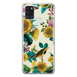 Casimoda Samsung Galaxy A21s siliconen hoesje - Sunflowers