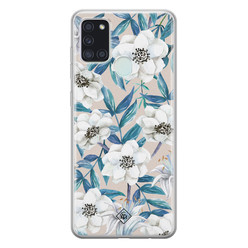 Casimoda Samsung Galaxy A21s siliconen hoesje - Touch of flowers