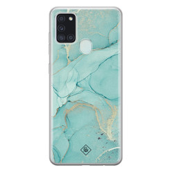 Casimoda Samsung Galaxy A21s siliconen hoesje - Touch of mint
