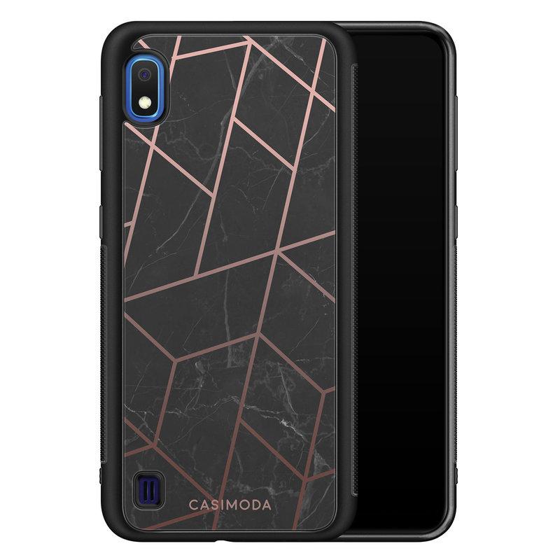 Casimoda Samsung Galaxy A10 hoesje - Marble grid