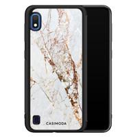 Casimoda Samsung Galaxy A10 hoesje - Marmer goud