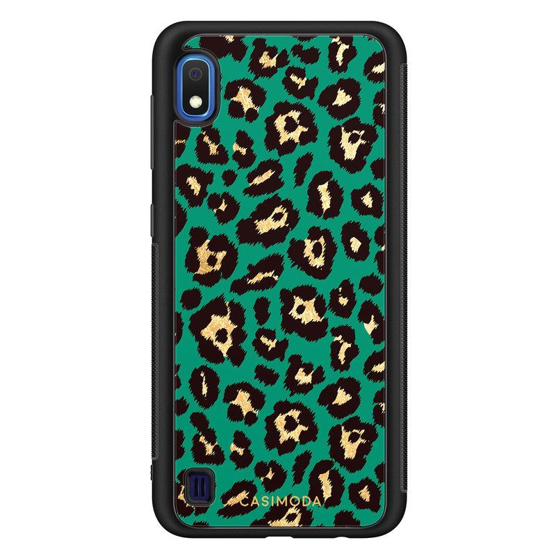 Casimoda Samsung Galaxy A10 hoesje - Luipaard groen