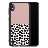 Casimoda Samsung Galaxy A10 hoesje - Pink dots