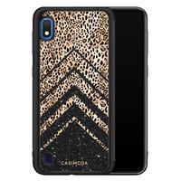 Casimoda Samsung Galaxy A10 hoesje - Chevron luipaard