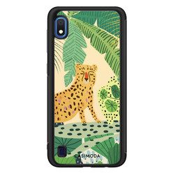 Casimoda Samsung Galaxy A10 hoesje - Jungle luipaard