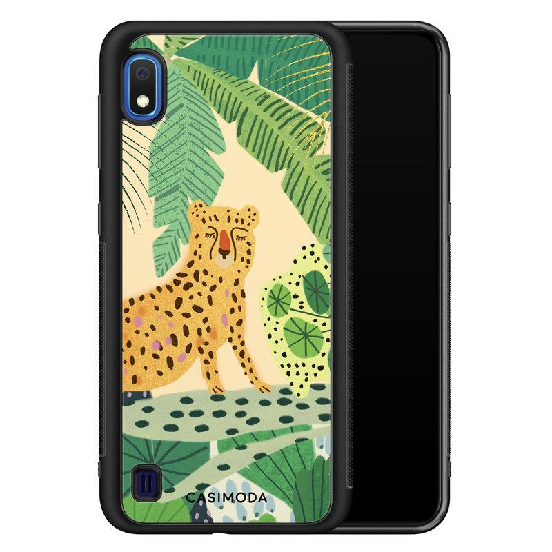 Casimoda Samsung Galaxy A10 hoesje - Jungle luipaard