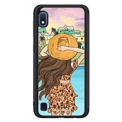 Casimoda Samsung Galaxy A10 hoesje - Sunset girl