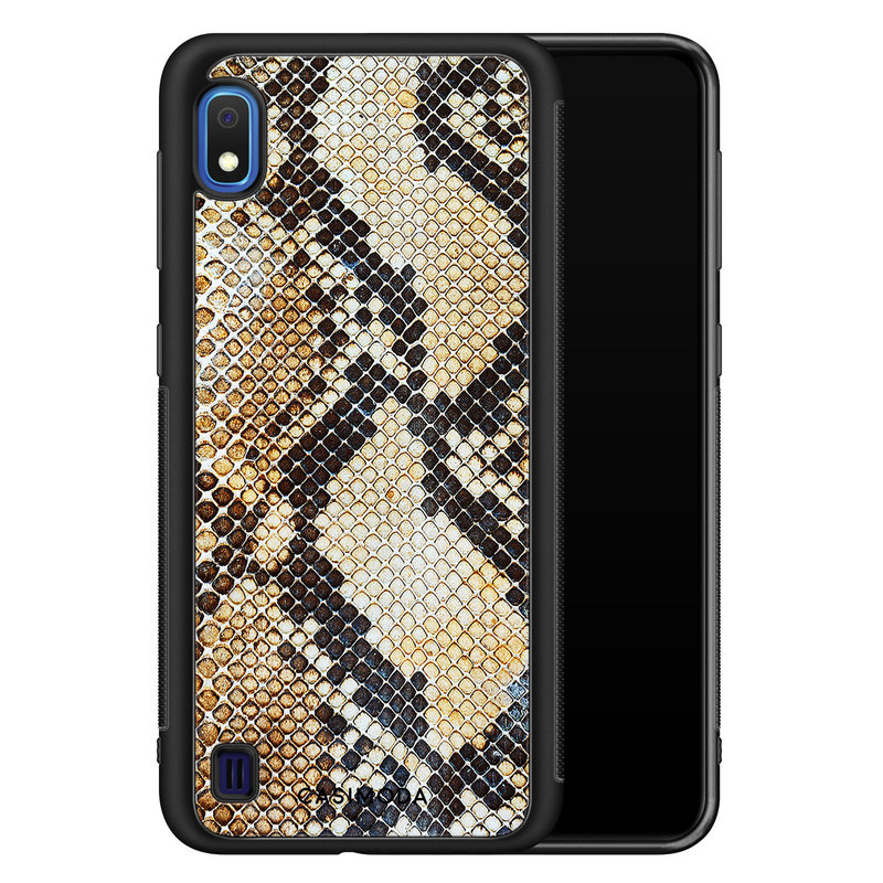 Casimoda Samsung Galaxy A10 hoesje - Golden snake