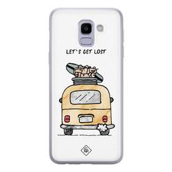 Casimoda Samsung Galaxy J6 (2018) siliconen hoesje - Let's get lost