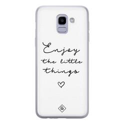 Casimoda Samsung Galaxy J6 (2018) siliconen hoesje - Enjoy life