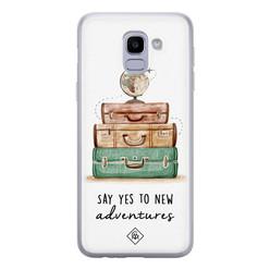 Casimoda Samsung Galaxy J6 (2018) siliconen hoesje - Wanderlust
