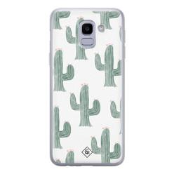 Casimoda Samsung Galaxy J6 (2018) siliconen hoesje - Cactus print