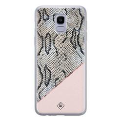 Casimoda Samsung Galaxy J6 (2018) siliconen hoesje - Snake print
