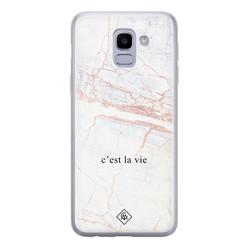 Casimoda Samsung Galaxy J6 (2018) siliconen hoesje - C'est la vie