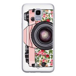 Casimoda Samsung Galaxy J6 (2018) siliconen hoesje - Hippie camera