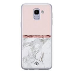 Casimoda Samsung Galaxy J6 (2018) siliconen hoesje - Rose all day