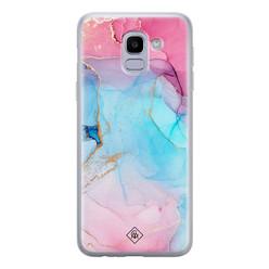 Casimoda Samsung Galaxy J6 (2018) siliconen hoesje - Marble colorbomb