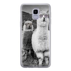Casimoda Samsung Galaxy J6 (2018) siliconen hoesje - Llama hipster
