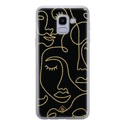 Casimoda Samsung Galaxy J6 (2018) siliconen hoesje - Abstract faces