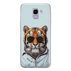 Casimoda Samsung Galaxy J6 (2018) siliconen hoesje - Tijger wild