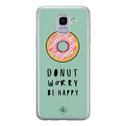 Casimoda Samsung Galaxy J6 (2018) siliconen hoesje - Donut worry
