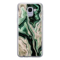 Casimoda Samsung Galaxy J6 (2018) siliconen hoesje - Green waves