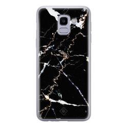 Casimoda Samsung Galaxy J6 (2018) siliconen hoesje - Marmer zwart
