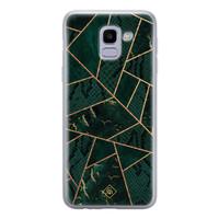 Casimoda Samsung Galaxy J6 (2018) siliconen hoesje - Abstract groen