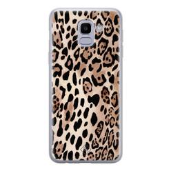 Casimoda Samsung Galaxy J6 (2018) siliconen hoesje - Golden wildcat