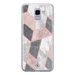 Casimoda Samsung Galaxy J6 (2018) siliconen hoesje - Stone grid