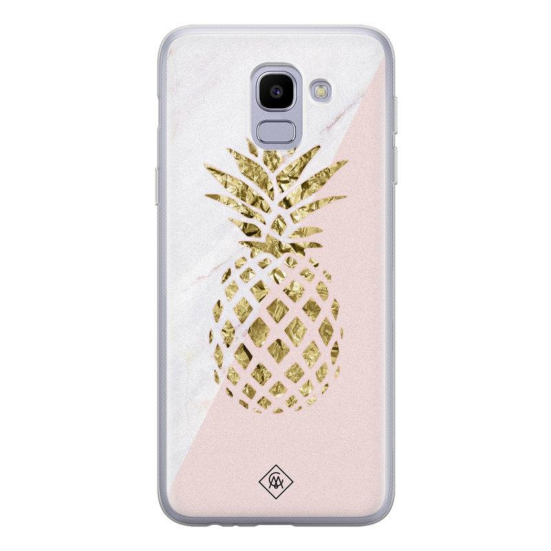 Casimoda Samsung Galaxy J6 (2018) siliconen hoesje - Ananas