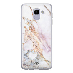 Casimoda Samsung Galaxy J6 (2018) siliconen hoesje - Parelmoer marmer
