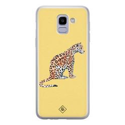 Casimoda Samsung Galaxy J6 (2018) siliconen hoesje - Leo wild