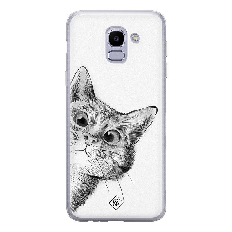 Casimoda Samsung Galaxy J6 (2018) siliconen hoesje - Peekaboo