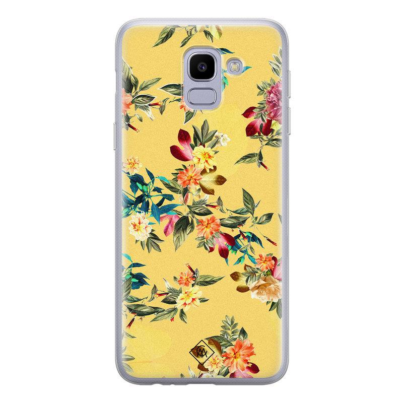 Casimoda Samsung Galaxy J6 (2018) siliconen hoesje - Floral days