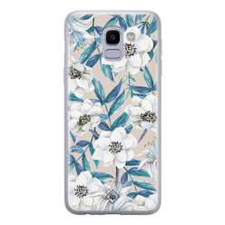 Casimoda Samsung Galaxy J6 (2018) siliconen hoesje - Touch of flowers