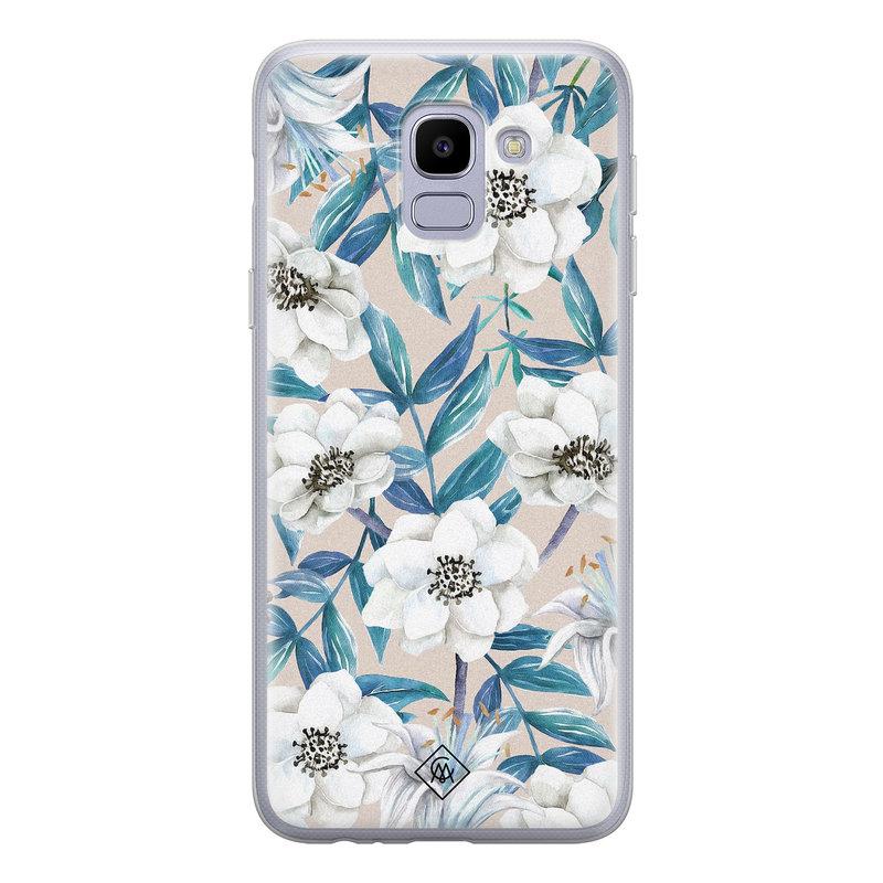 Casimoda Samsung Galaxy J6 (2018) siliconen telefoonhoesje - Touch of flowers